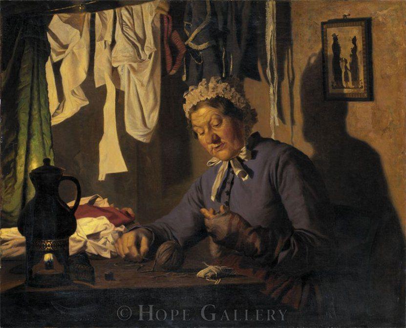 Когда есть чем заняться — стареть некогда: душевные картины о бабушках-рукодельницах, фото № 23
