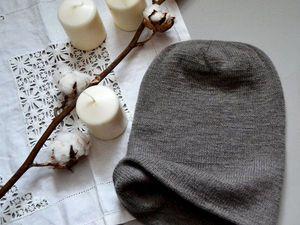 Удлиненная шапка-бини из кашемира | Ярмарка Мастеров - ручная работа, handmade
