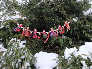 Мастер-класс: новогодняя гирлянда «Хоровод» своими руками. Ярмарка Мастеров - ручная работа, handmade.
