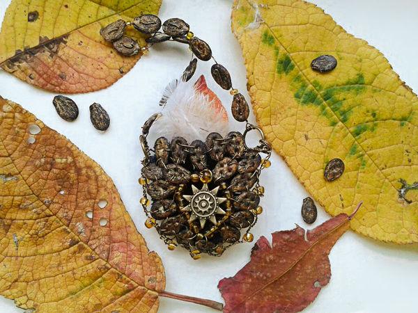Сумочка из арбузных семечек | Ярмарка Мастеров - ручная работа, handmade