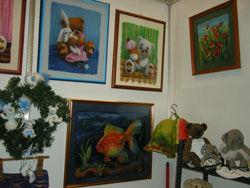 Картины из шерсти на выставке Hello Teddy
