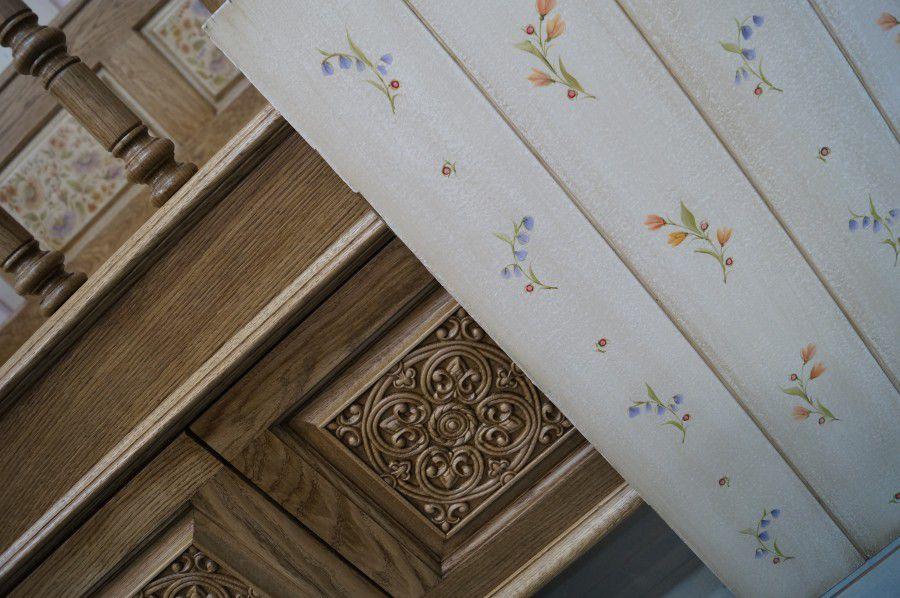 мебель из дуба, резная мебель, роспись мебели