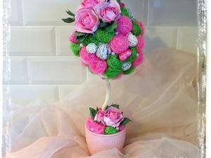 Создаем весенний топиарий с розами из фоамирана. Ярмарка Мастеров - ручная работа, handmade.
