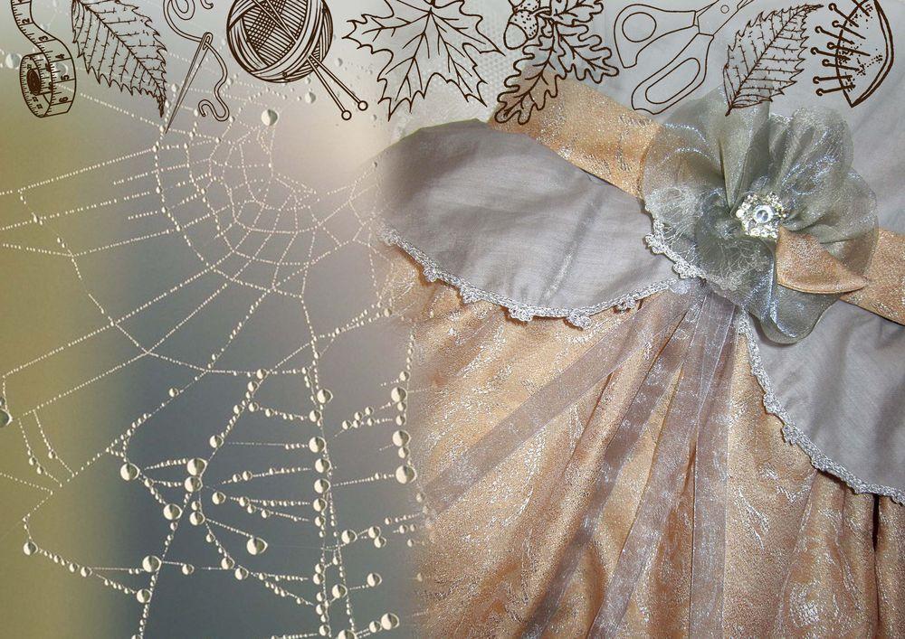 отделка кружевом, платье для девочки