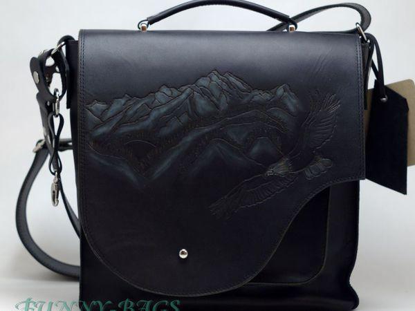 Горы...орел..Кавказ..Мужская сумка. | Ярмарка Мастеров - ручная работа, handmade