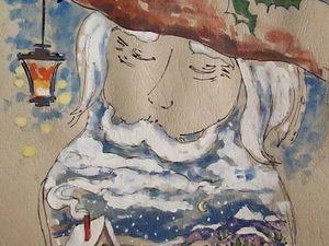 ГРАФИКА, зимний сказочник, формат А4, художник А. Шуберт. Ярмарка Мастеров - ручная работа, handmade.
