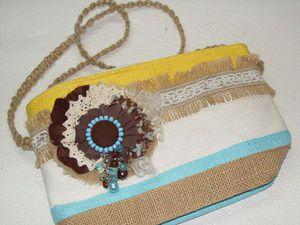Переделываем летнюю косметичку в яркую сумочку. Ярмарка Мастеров - ручная работа, handmade.