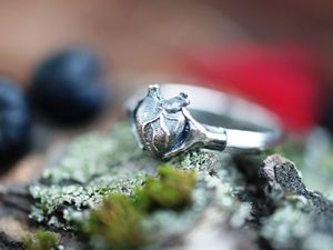 Новинка! Кольцо Сердцебиение, серебро 925 пробы с чернением, видео. Ярмарка Мастеров - ручная работа, handmade.