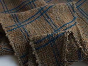 Платок клетчатый, твидовая пряжа. Ярмарка Мастеров - ручная работа, handmade.