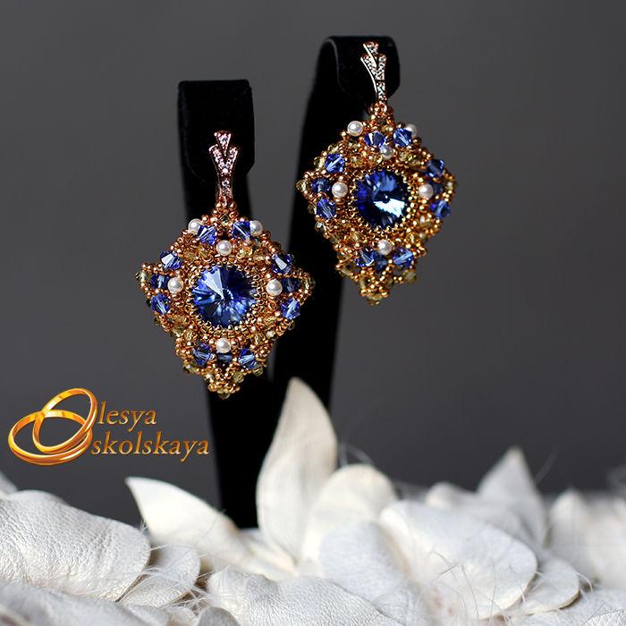 серьги, олеся оскольская, сваровски, видео, дизайнерские украшения, swarovski, кристаллы сваровски