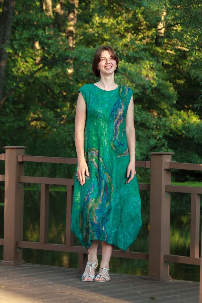 платье нуновойлок, платье для офиса