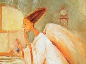 Завтра аукцион на мааааленького ангелочка в рамке!!!. Ярмарка Мастеров - ручная работа, handmade.