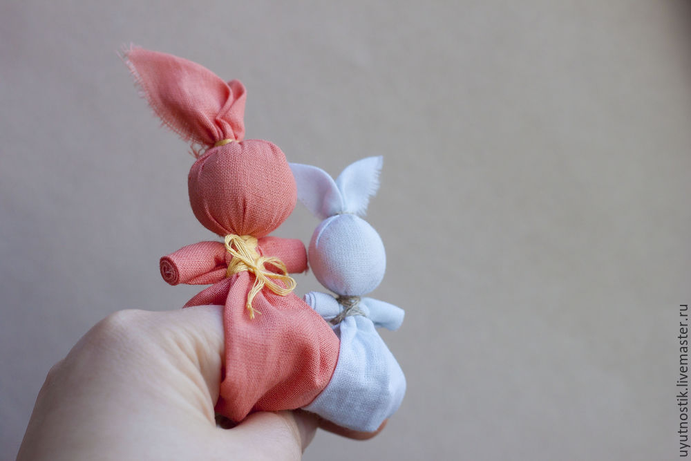 Great DIY Folk Finger Bunny Toy, фото № 15