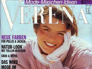 Verena № 9/1991. Содержание. Ярмарка Мастеров - ручная работа, handmade.