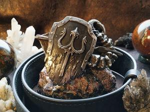 Кожаный ремень с кованой пряжкой ручной работы. Ярмарка Мастеров - ручная работа, handmade.