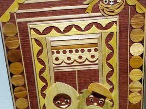 Чайный домик.Инкрустация соломкой. Ярмарка Мастеров - ручная работа, handmade.