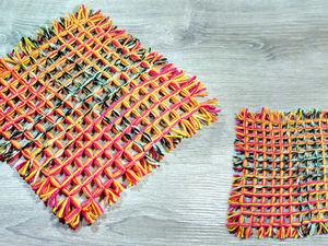 Делаем коврик из пряжи: видео мастер-класс. Ярмарка Мастеров - ручная работа, handmade.
