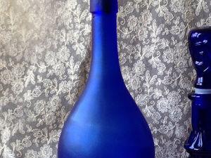 Синяя бутыль в магазине. Ярмарка Мастеров - ручная работа, handmade.
