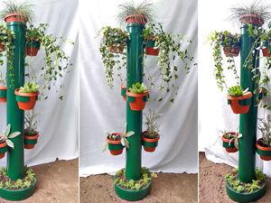 Делаем подставку под цветы из пластиковой трубы: видео мастер-класс. Ярмарка Мастеров - ручная работа, handmade.