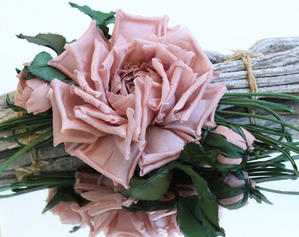 цветы из ткани, украшения с цветами, шелковая роза, цветы на заказ