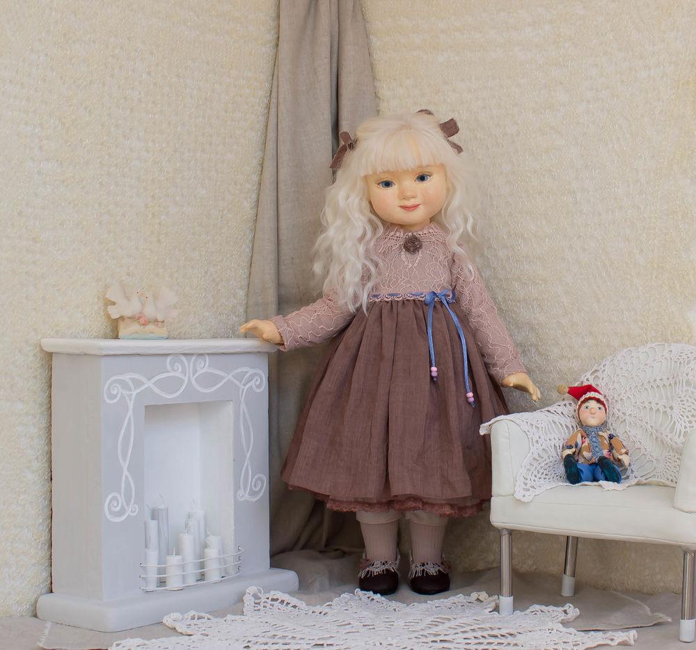 интерьерная кукла, голубоглазая