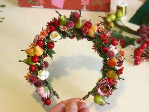 Создаем ободок-корону с фруктами и ягодами для Королевы урожая. Ярмарка Мастеров - ручная работа, handmade.