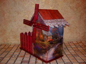 Новая работа - чайный домик и конфетница  Старая Мельница | Ярмарка Мастеров - ручная работа, handmade
