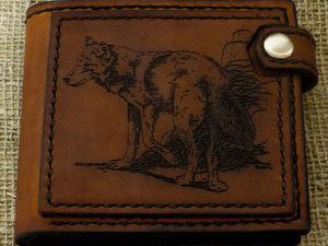 Кожаный кошелек. Скидка 20% до 20.12.2017 г.. Ярмарка Мастеров - ручная работа, handmade.