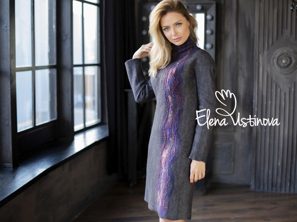 платье, платье для осени, купить платье валяное, платье на заказ