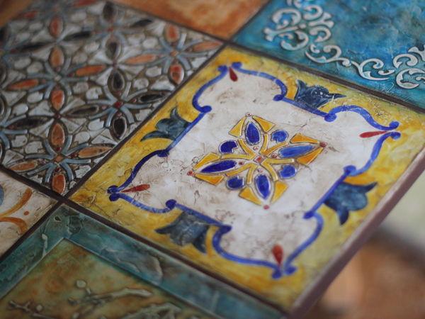 NEW! Серия «Настенные техники» Испанские изразцы - «Имитация керамической плитки» по будням   Ярмарка Мастеров - ручная работа, handmade