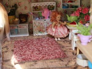 Как я делала домик-румбокс для Даши и ее маленькой куклы. Фото. Часть 1 - первый этаж. | Ярмарка Мастеров - ручная работа, handmade