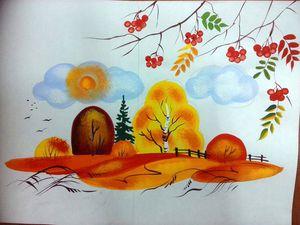 Видео мастер-класс: осень в декоративном пейзаже. Ярмарка Мастеров - ручная работа, handmade.