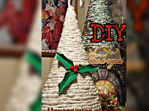 Как сделать новогоднюю декоративную елочку из кальки: видеоурок. Ярмарка Мастеров - ручная работа, handmade.