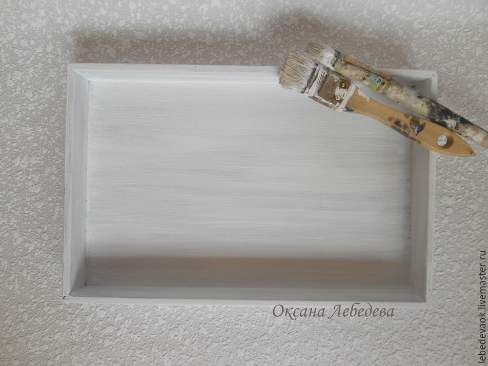 Decorating a Wooden Tray in the French Vintage Style, фото № 4