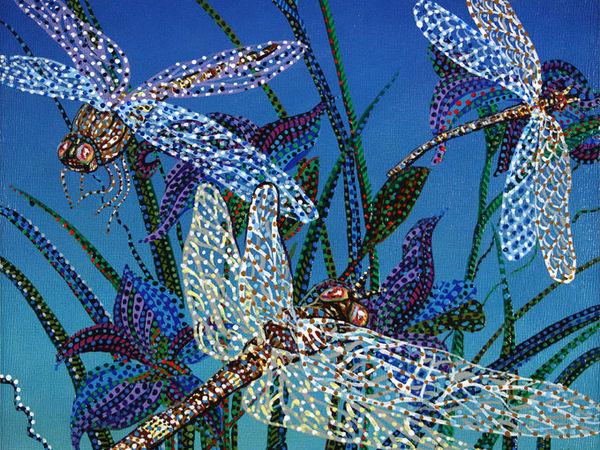 Яркие точечные картины   Ярмарка Мастеров - ручная работа, handmade