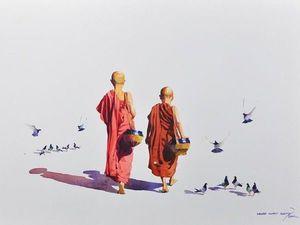 Акварели тишины художника Myoe Win Aung. Ярмарка Мастеров - ручная работа, handmade.