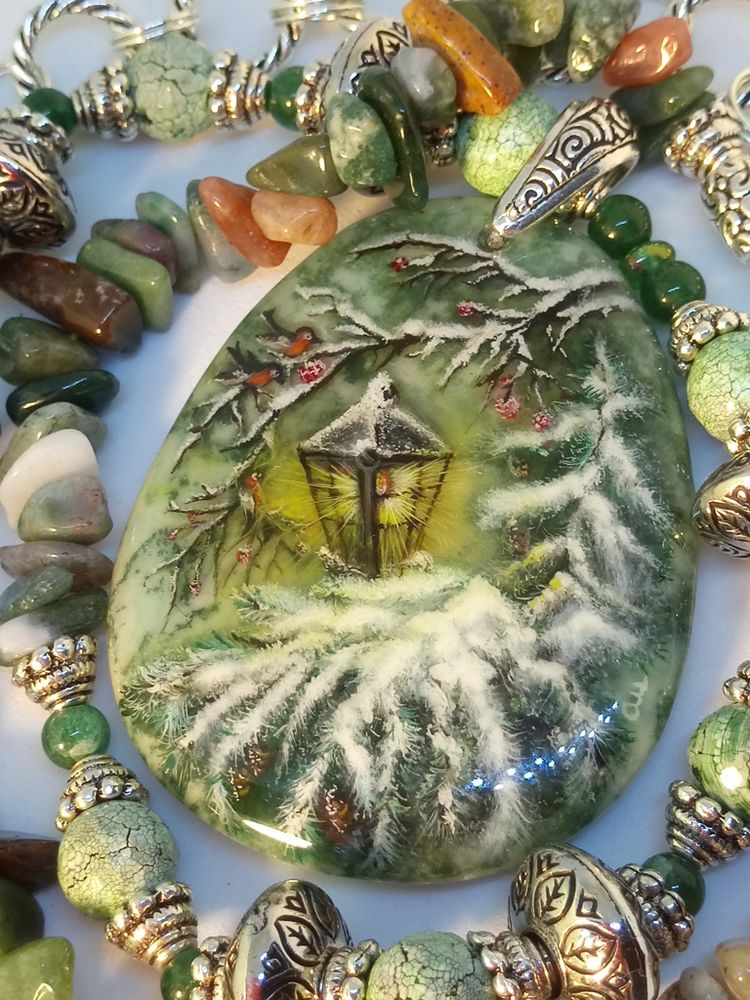 которым картинки миниатюра на камне зимние нашей мастерской реставрацию