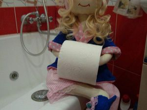 Кукла держательница туалетной бумаги и полотенец | Ярмарка Мастеров - ручная работа, handmade