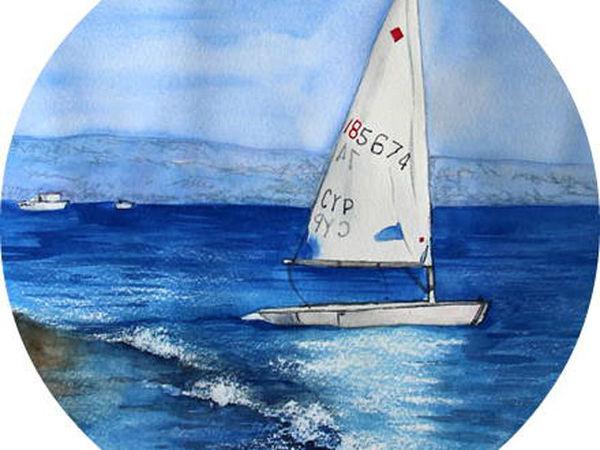 Мастер-класс. Акварель. Морской пейзаж | Ярмарка Мастеров - ручная работа, handmade