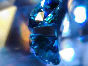 видео синий бриллиант 0,33 кт. Ярмарка Мастеров - ручная работа, handmade.