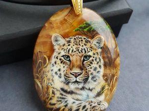"Кулон ""Леопард"" на ониксе. Ярмарка Мастеров - ручная работа, handmade."