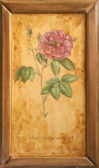 роспись по дереву, цветы, масляные краски, состаривание