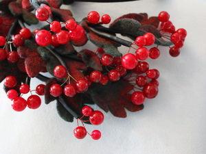 Колье  «Калина красная». Ярмарка Мастеров - ручная работа, handmade.