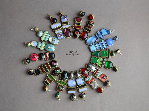 Архив 2 Асимметричные серьги | Ярмарка Мастеров - ручная работа, handmade