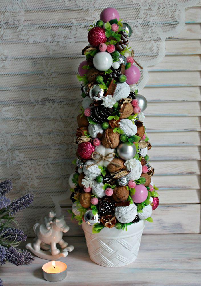 елка, новогодняя елка, флористика новый год, мастер-класс елка