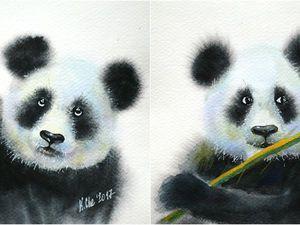 Панды | Ярмарка Мастеров - ручная работа, handmade