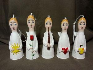 СКИДКА 30 % на керамические куклы-колокольчики сегодня! | Ярмарка Мастеров - ручная работа, handmade