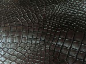 Лоскуты кожи крокодила коричневые | Ярмарка Мастеров - ручная работа, handmade