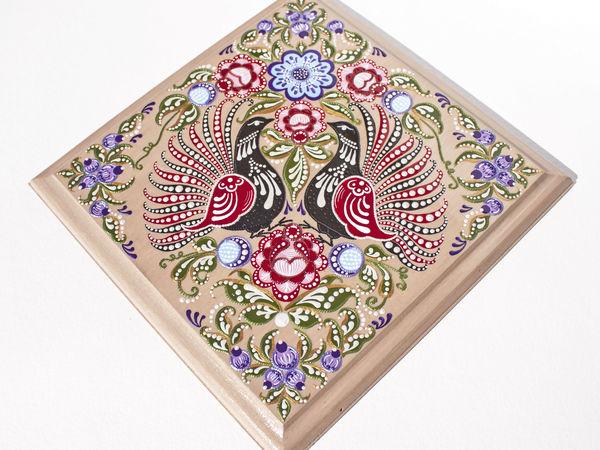 Расписываем панно «Городецкие птицы» в смешанной технике | Ярмарка Мастеров - ручная работа, handmade