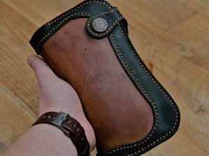 Шьем клатч из натуральной кожи. Ярмарка Мастеров - ручная работа, handmade.